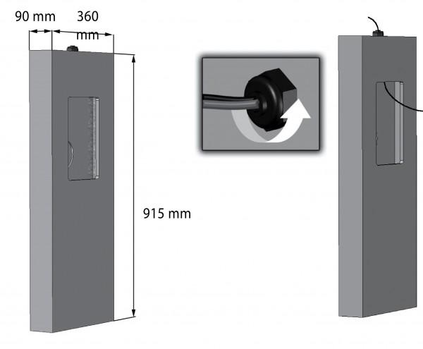 Einbaugehäuse für Cabasse Wandeinbaulautsprecher